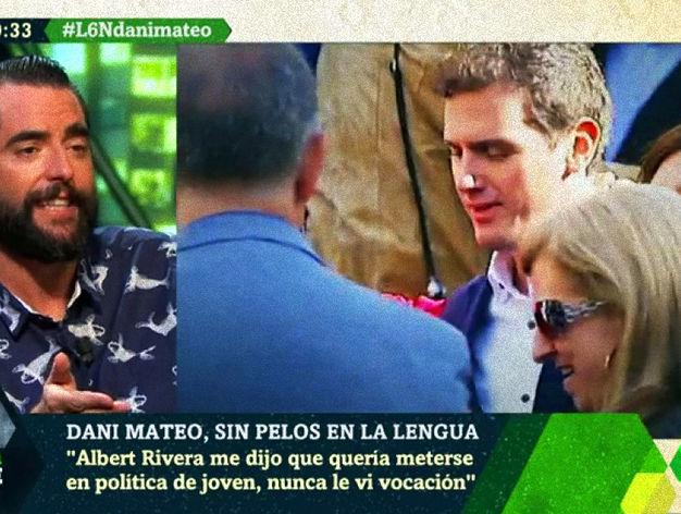 """Actualidad Noticias Dani Mateo rememora sus tiempos de instituto con Albert Rivera: """"Era muy guapo, era odioso"""""""