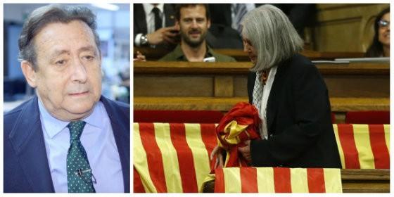 Actualidad Noticias Alfonso Ussía hace picadillo a la 'albóngida burra' podemita que retiró una bandera española