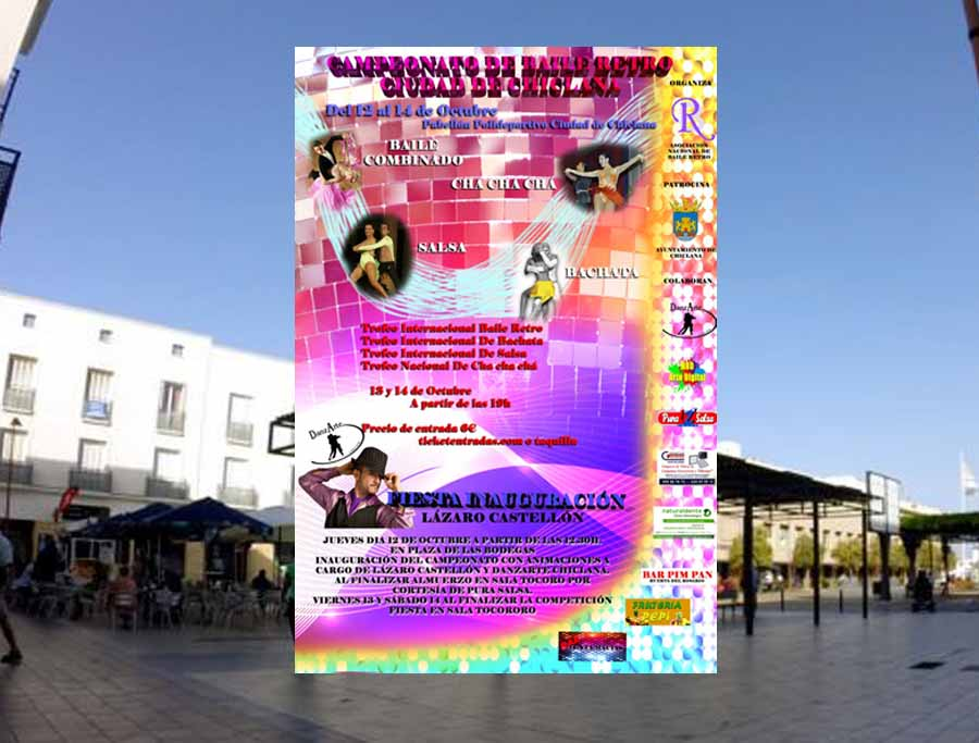 Actualidad Noticias La Plaza de las Bodegas acogerá la Gran Fiesta previa al Campeonato de Baile Retro Ciudad de Chiclana