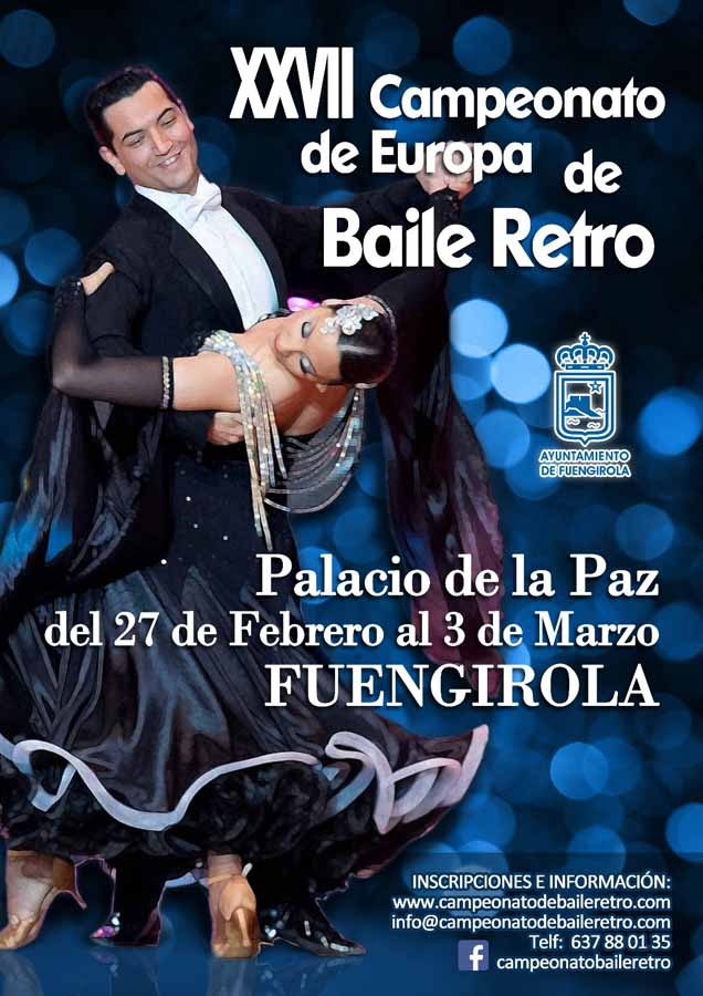 Torremolinos Torremolinos Sale a la luz el cartel y ya se pueden realizar las inscripciones online del XXVII Campeonato de Europa de Baile Retro