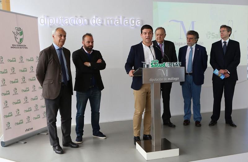 Málaga Málaga La Diputación de Málaga impulsará el programa 'Club Salud' de la Federación Andaluza de Fútbol para el fomento del deporte y la alimentación saludable entre los futbolistas andaluces