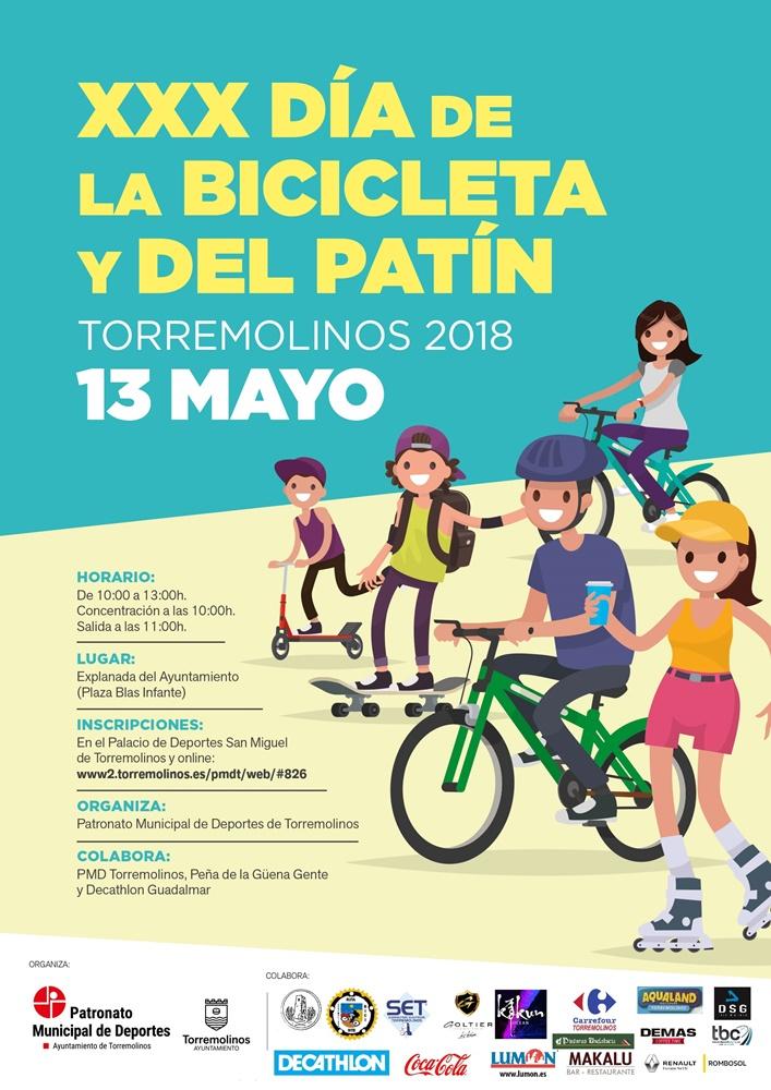 Torremolinos Torremolinos El XXX Día de la Bicicleta y del Patín reunirá en Torremolinos a cientos de personas este domingo 13 de mayo