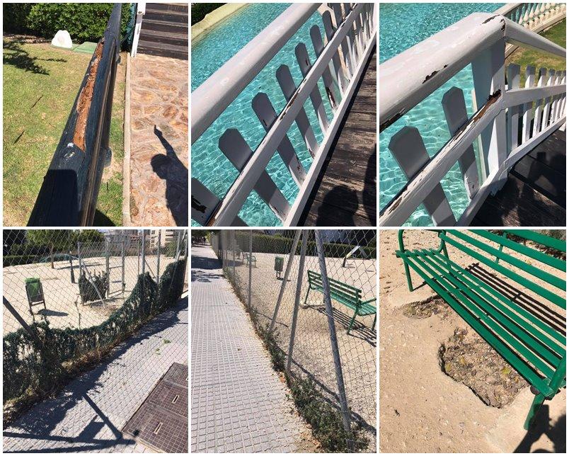 Torremolinos Torremolinos El equipo del PP que dirige Margarita del Cid destapa las mentiras de Ortiz: Los parques de Torremolinos siguen siendo un peligro por falta de mantenimiento
