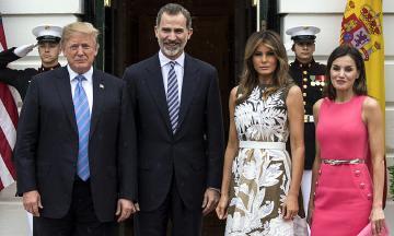 Actualidad Noticias Primeras imágenes del esperado encuentro de los Reyes con Donald y Melania Trump