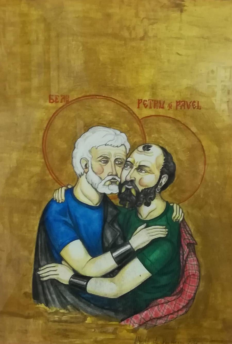 Gays Gays El PP pide retirar la imagen de dos apóstoles besándose de una exposición en Bizkaia