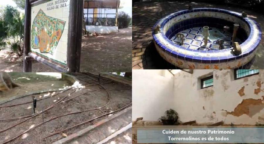 Torremolinos Torremolinos Margarita del Cid vuelve a denunciar el estado de abandono del Jardín Botánico Molino del Inca de Torremolinos