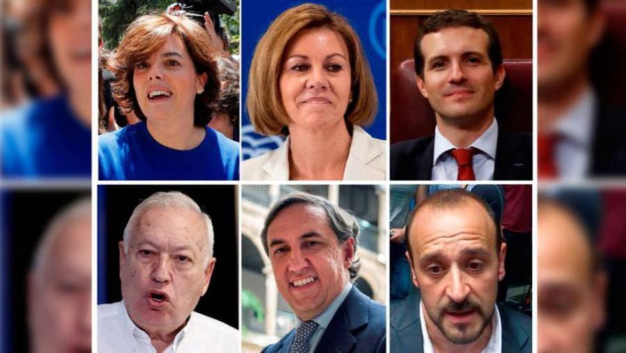 Actualidad Noticias Sáenz de Santamaría y Casado se imponen en las primarias del PP y dejan fuera a Cospedal