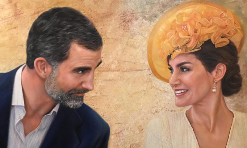 Realeza Realeza Los reyes Felipe y Letizia estrenan retrato no oficial en una exposición de Málaga
