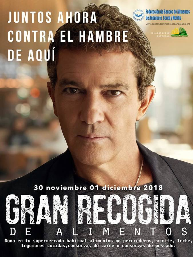 Málaga Málaga El actor Antonio Banderas, imagen de la Gran Recogida de Alimentos 2018 en Andalucía, Ceuta y Melilla
