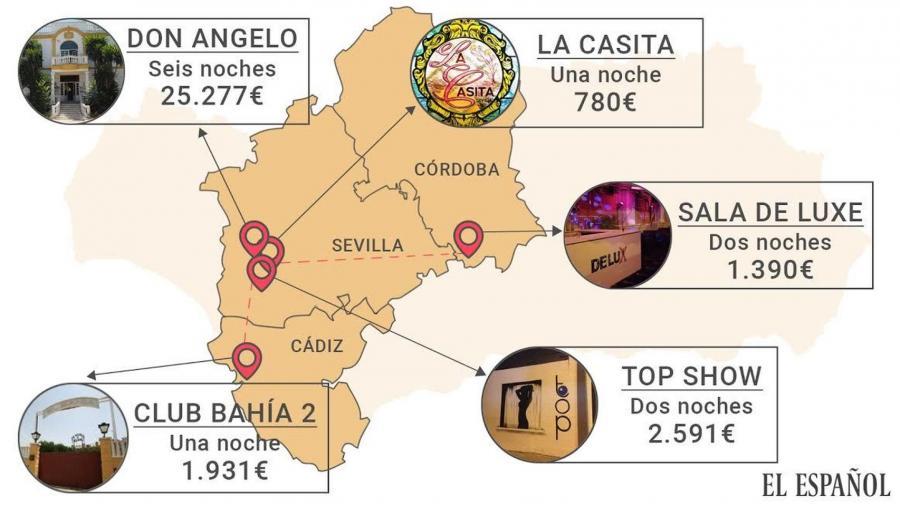 Actualidad Noticias La ruta por los 5 puticlubs cutres y las 13 juergas con el dinero del paro andaluz