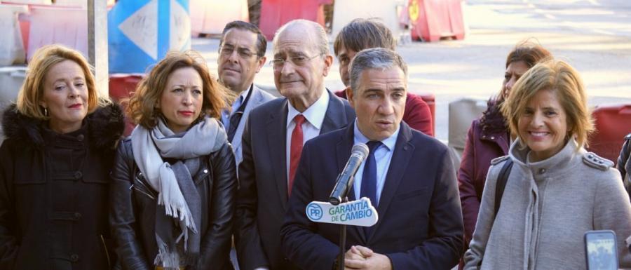 Málaga Málaga El PP cierra la campaña en la capital con el compromiso de acelerar las obras del metro