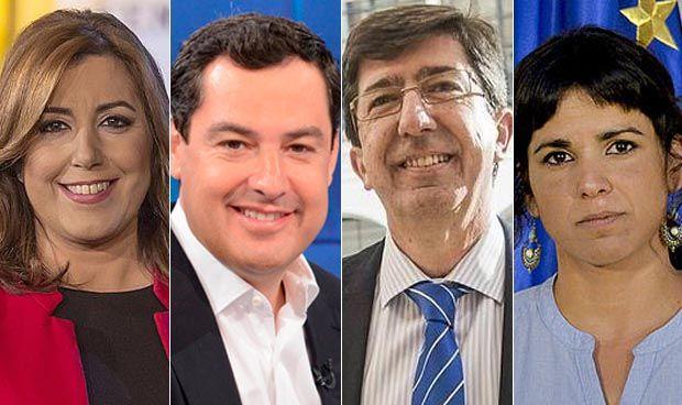 Andalucía Andalucía Susana Díaz, Juanma Moreno y Casado, Juan Marín y Rivera y Santiago Abascal, eligen Sevilla para el cierre de campaña y Teresa Rodríguez y Pablo Iglesias están en Torremolinos