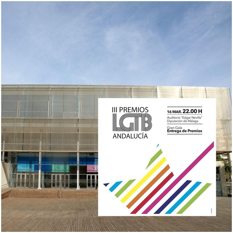 """Málaga Málaga Los III Premios LGTB Andalucía 2019 se celebrarán en el Auditorio """"Edgar Neville"""" de la Diputación de Málaga el 16 de marzo"""
