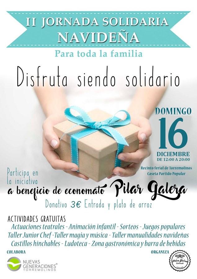 """Torremolinos Torremolinos NNGG Torremolinos organiza la II Jornada Solidaria Navideña el 16 de diciembre en beneficio del economato """"Pilar Galera"""""""
