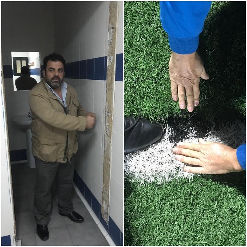 Ayuntamientos Ayuntamientos El PP de Mijas denuncia el estado de abandono que presenta el campo de fútbol Antonio Márquez
