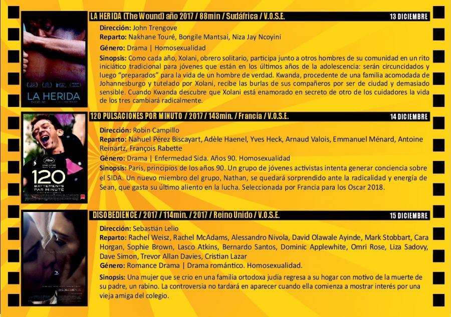 Torremolinos Torremolinos El Centro Cultural Pablo Ruiz Picasso alberga del 13 al 15 de diciembre la III Muestra de Cine LGTBI de Torremolinos