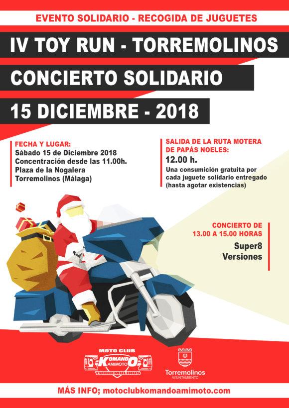 Torremolinos Torremolinos Más de 150 moteros vestidos de Papá Noel recorrerán las calles de Torremolinos en el IV Toy Run Solidario