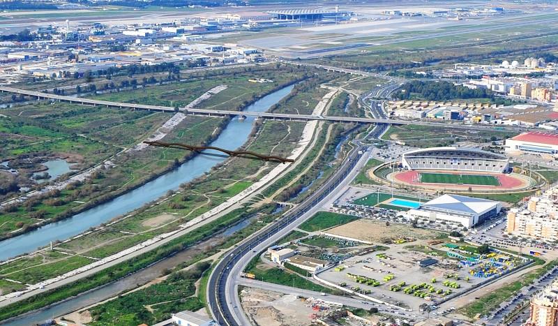 Málaga Málaga Proponen la adjudicación de la pasarela peatonal del Guadalhorce por casi 1,6 millones de euros