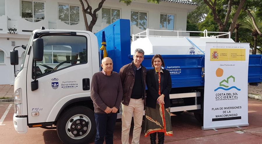 Mancomunidad Mancomunidad Mancomunidad entrega a Benalmádena un camión valorado en más de 64.000 euros