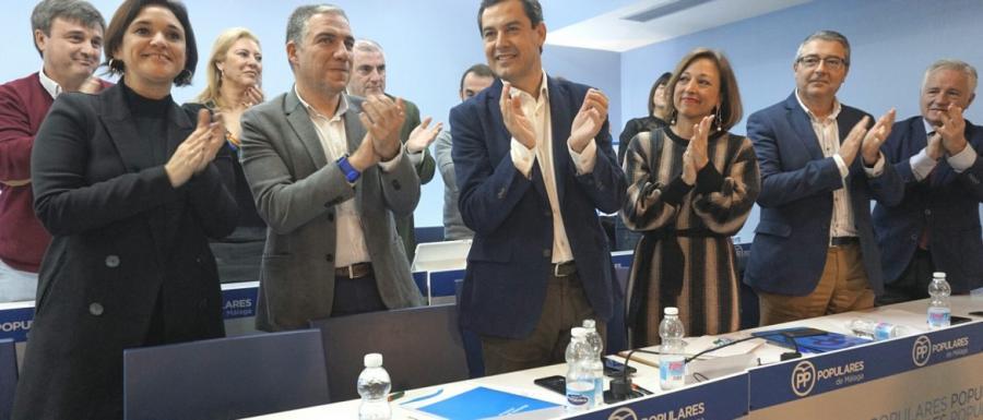 """Andalucía Andalucía Elías Bendodo (PP): """"Nuestro objetivo son 47 diputados para construir un Gobierno Andaluz y a partir de ahí quien se quiera sumar posteriormente, pues encantado"""""""