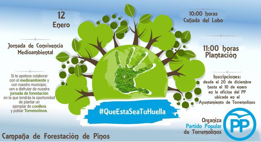 Torremolinos Torremolinos Hasta el 10 de enero te puedes inscribir en la Campaña de Forestación de la Cañada del Lobo organizada por el PP de Torremolinos para el 12 de enero