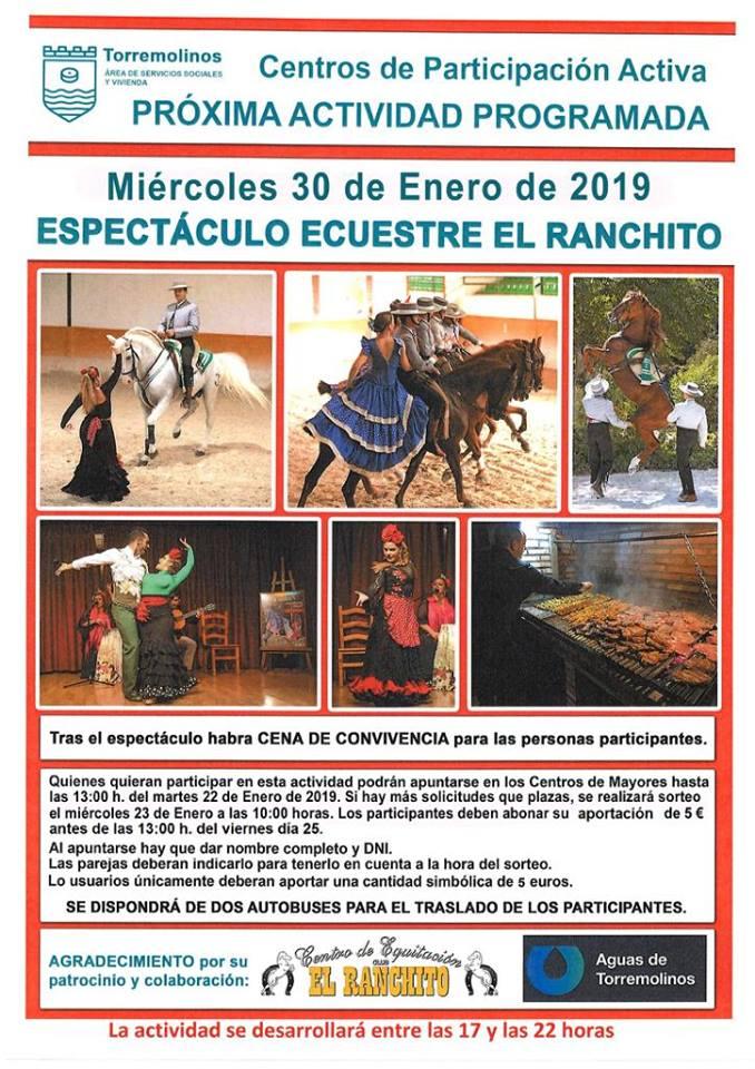 Torremolinos Torremolinos Servicios Sociales recupera las actividades con los mayores de Torremolinos organizando una visita y espectáculo ecuestre en El Ranchito con aforo limitado