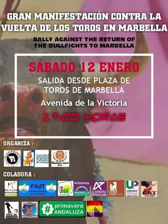 Torremolinos Torremolinos El Partido Animalista de Torremolinos participará en la Gran Manifestación contra la Vuelta de los Toros a Marbella de este próximo sábado