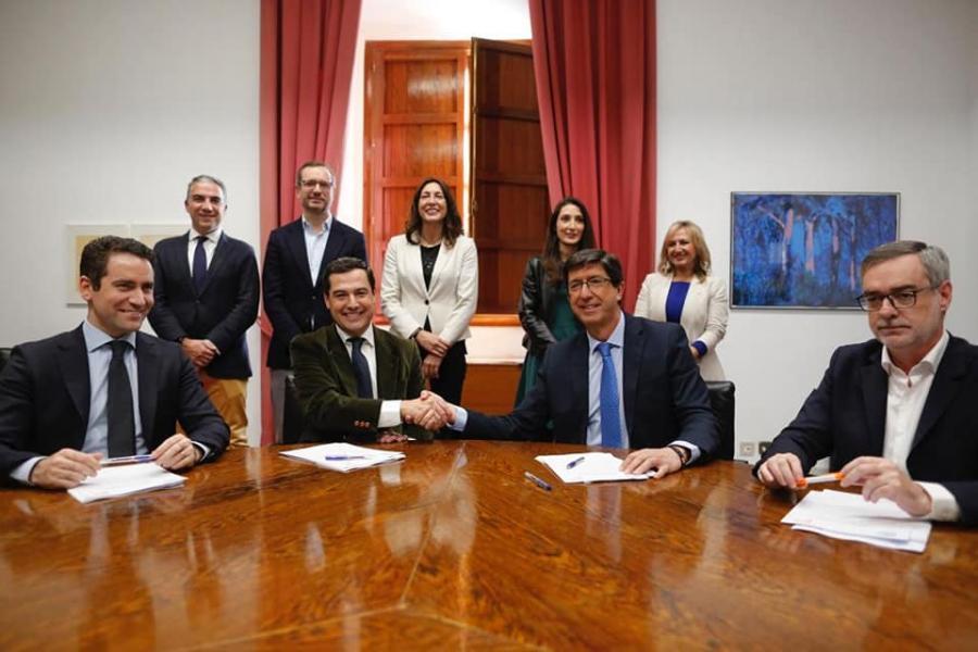 Andalucía Andalucía La sesión de investidura del Presidente de la Junta se celebrará los días 15 y 16 de enero: Estos son los principales compromisos electorales de Moreno (PP) y Marín (Cs) con Málaga