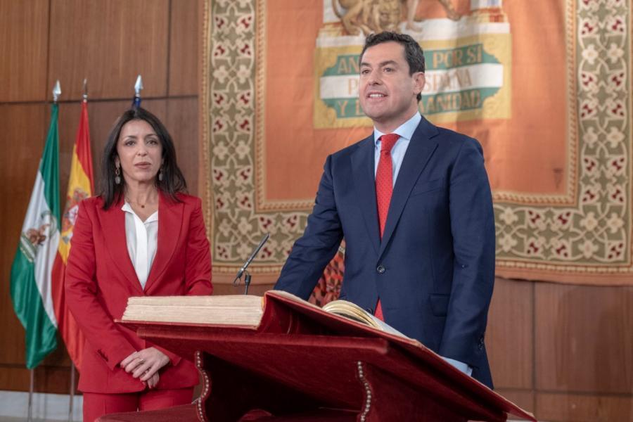Andalucía Andalucía Juan Manuel Moreno toma posesión hoy como presidente de la Junta de Andalucía