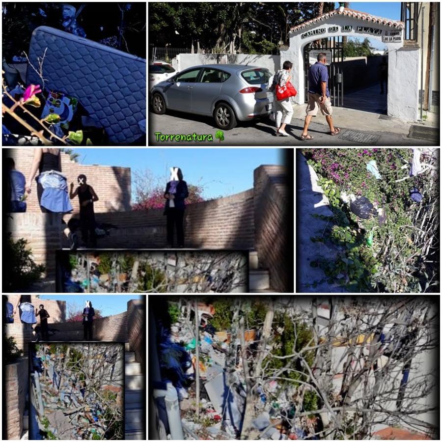 Torremolinos Torremolinos Torrenatura denuncia el foco insalubre de acumulación de basuras junto a la escalera del Camino de la Playa en el Bajondillo y pide el adecentamiento a Ortiz