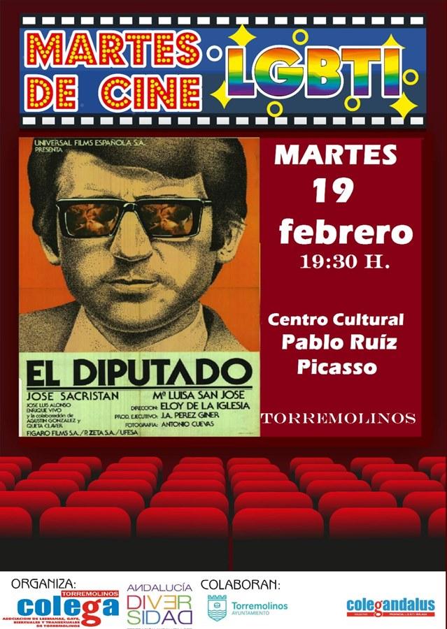 Torremolinos Torremolinos El ciclo 'Martes de cine LGTBI' proyecta mañana martes en el Centro Cultural Pablo Ruiz Picasso la película 'El Diputado'
