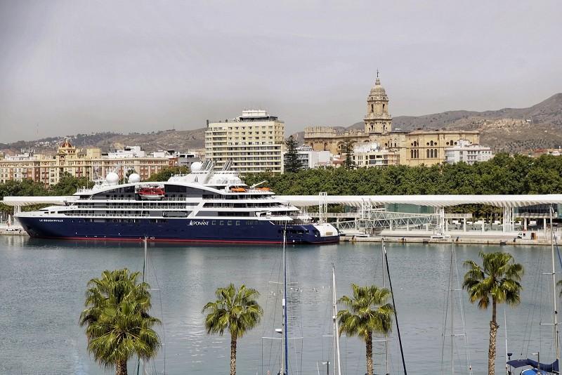 """Turismo Turismo El nuevo buque exclusivo """"Le Bougainville"""" inicia su viaje inaugural desde el Puerto de Málaga"""