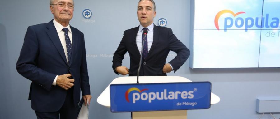 """Málaga Málaga El PP presenta una lista """"ganadora"""" para la capital junto """"al mejor alcalde de la historia"""""""