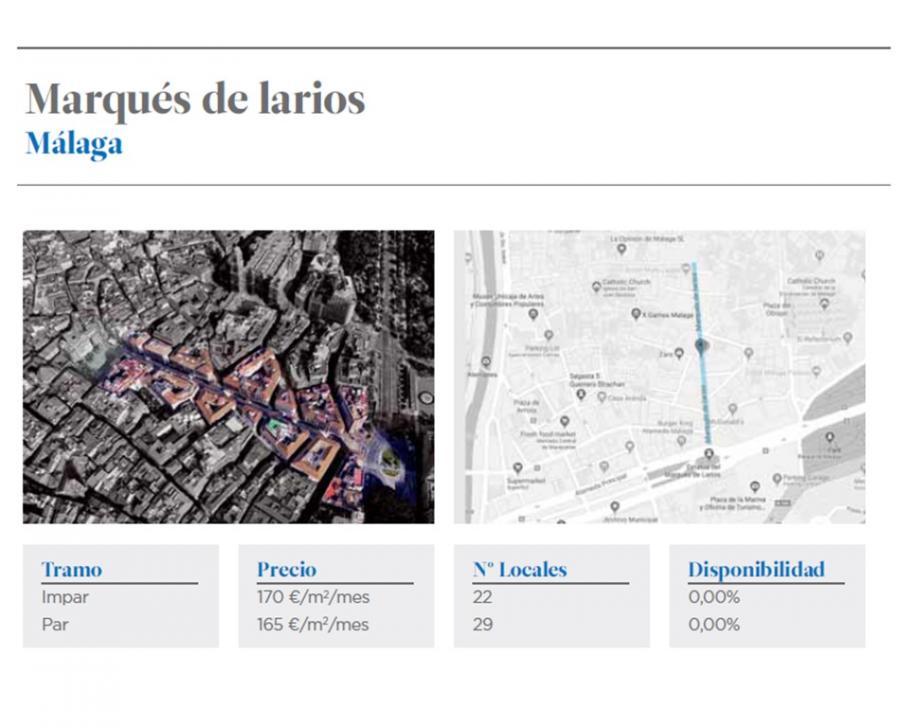 Economia Economia La calle Larios de Málaga se sitúa como la zona con mayor ocupación de locales comerciales