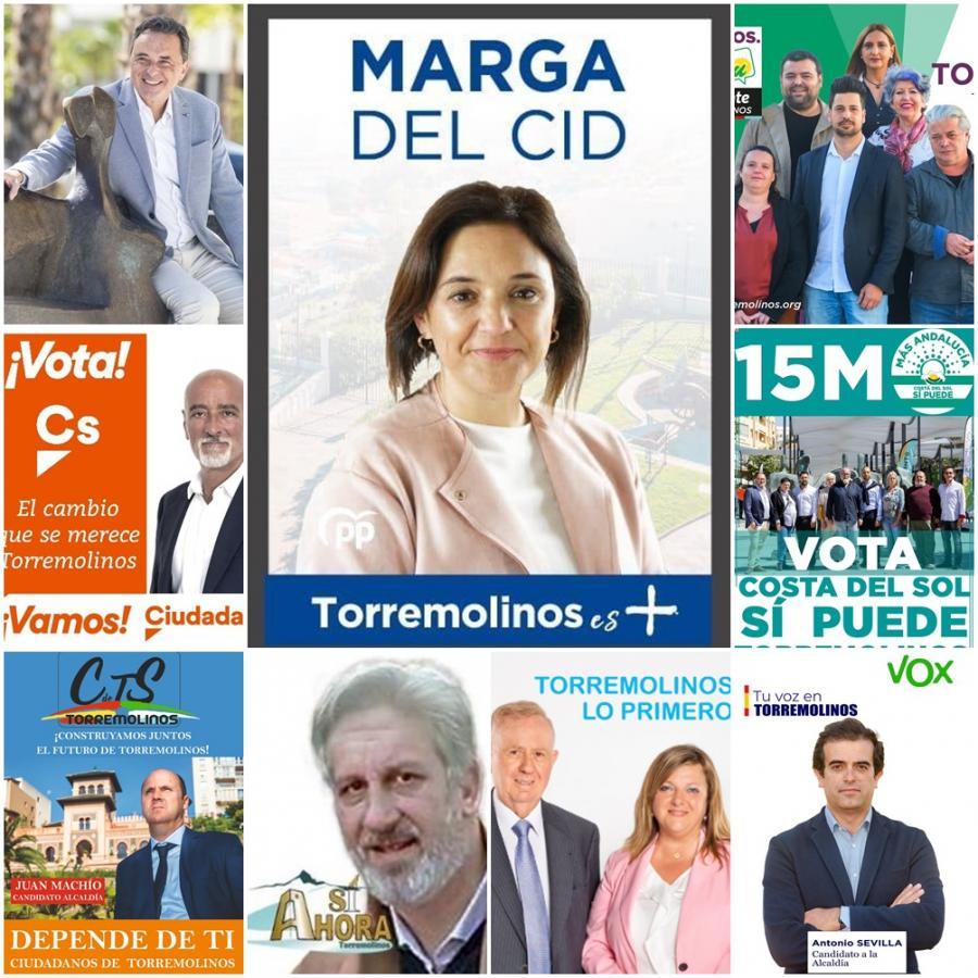 Torremolinos Torremolinos Fin de campaña del 26M en Torremolinos: Nueve formaciones políticas aspiran a hacerse con la alcaldía  para recuperar una localidad muy necesitada de un cambio