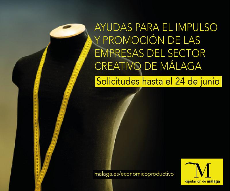 Málaga Málaga Las empresas malagueñas vinculadas al sector creativo ya pueden solicitar las subvenciones destinadas a la promoción de sus negocios