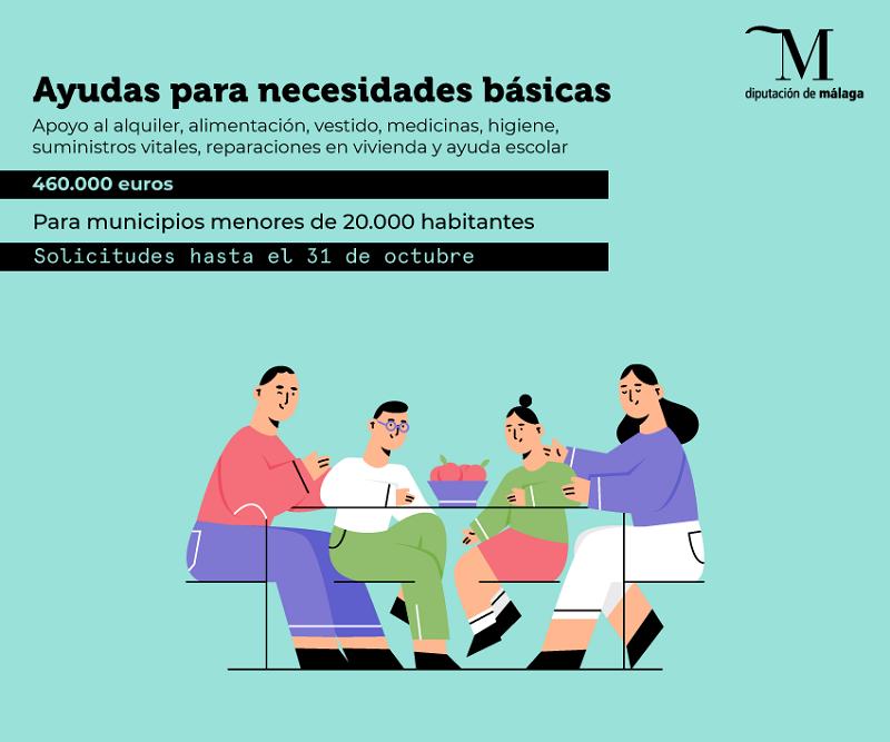 Málaga Málaga Las familias de la provincia con menos recursos ya pueden solicitar las ayudas que la Diputación destina para cubrir necesidades básicas