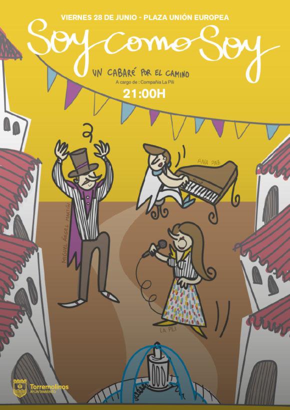 Torremolinos Torremolinos La plaza de la Unión Europea de Torremolinos será escenario este viernes del espectáculo 'Soy como soy, un cabaré por el camino'