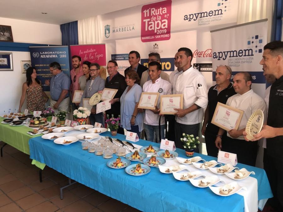 Turismo Turismo La Ribera y Savor consiguen los primeros premios de la XI Ruta de la Tapa en las categorías Popular y 5 Estrellas, respectivamente en Marbella