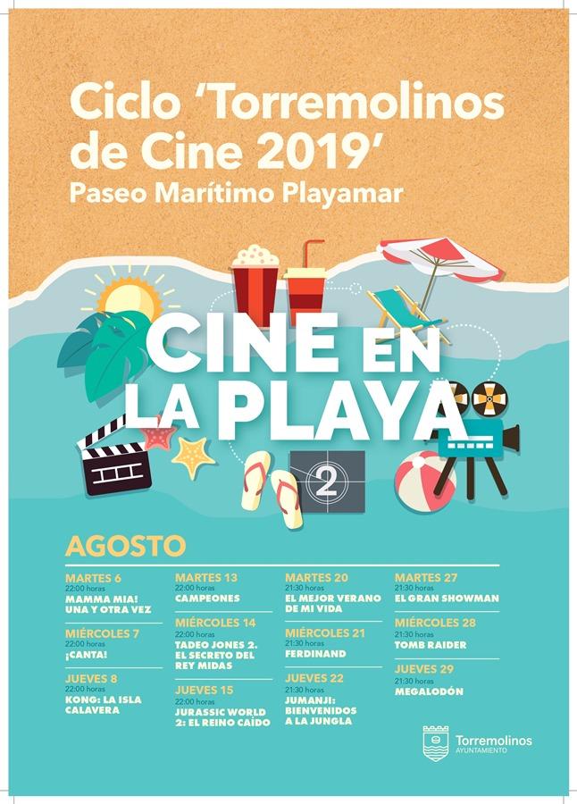 Torremolinos Torremolinos Torremolinos descorre el telón del ciclo 'Cine en la Playa' con lleno absoluto en su primera sesión y 11 películas más en agosto