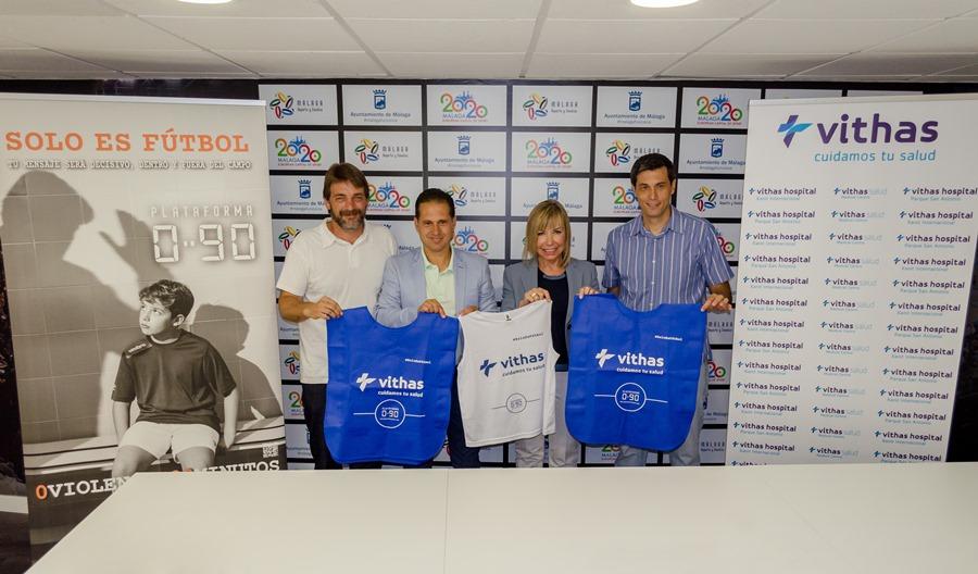 Deportes Deportes La Plataforma 0:90 y Vithas Costa del Sol firman un acuerdo de colaboración para fomentar el juego limpio en el fútbol base