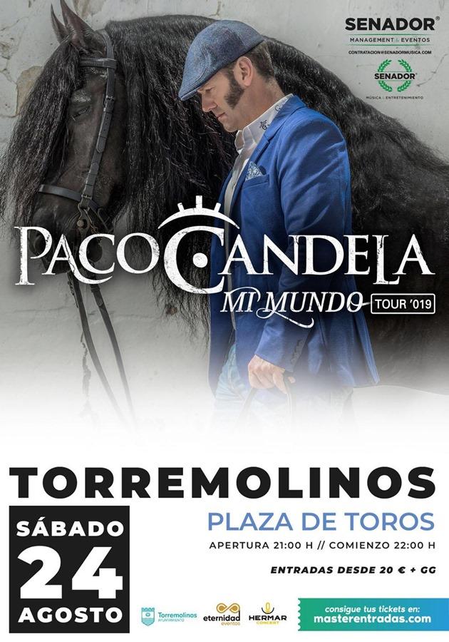 Torremolinos Torremolinos La gira 'Mi mundo' del solista y cantaor flamenco Paco Candela llega este sábado a Torremolinos