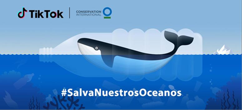 Ecologia Ecologia #SalvaNuestrosOceanos junto con TikTok y  Conservation International