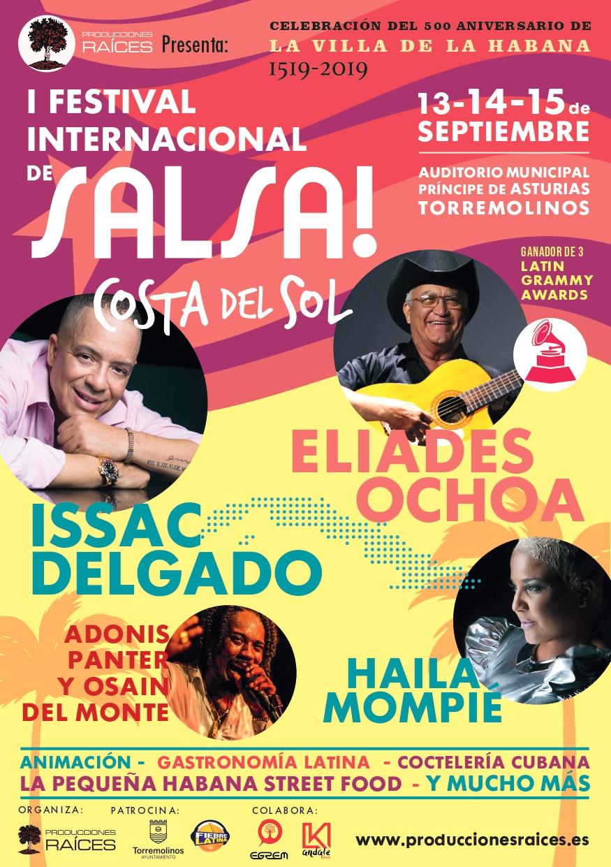 Torremolinos Torremolinos Torremolinos reúne este fin de semana en el 'I Festival Internacional de Salsa Costa del Sol' a las estrellas de la música cubana