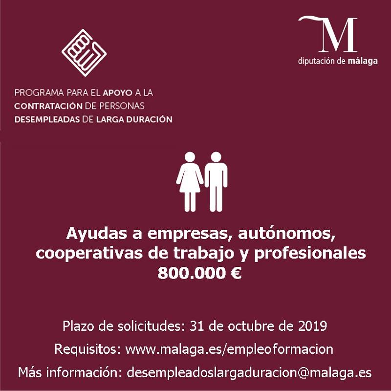 Empleo Empleo La Diputación anima a empresas y cooperativas a participar en el plan para personas desempleadas de larga duración