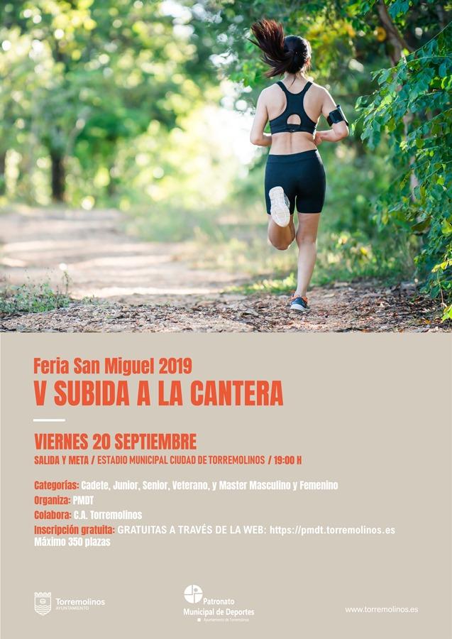 Torremolinos Torremolinos La V Subida a la Cantera-Feria de San Miguel tendrá lugar este viernes