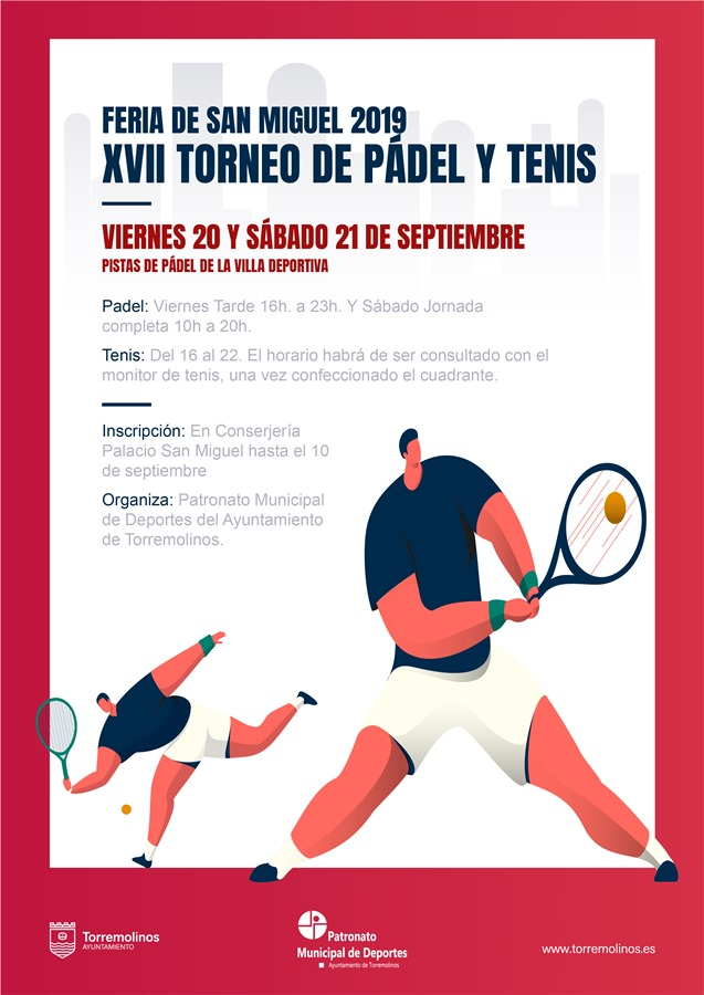 Torremolinos Torremolinos Este viernes comienza el XVIII Torneo de Pádel Feria de San Miguel 2019