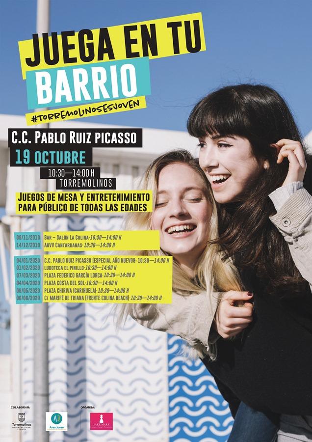 """Torremolinos Torremolinos El ciclo """"Juega En Tu Barrio"""" se estrena este sábado en el Centro Cultural y recorrerá Torremolinos"""