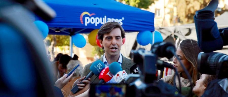 """Málaga Málaga Montesinos: """"Sánchez es un riesgo para la economía, hay que concentrar el voto en el PP"""""""