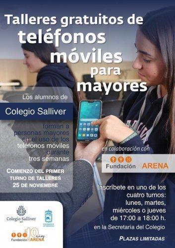 Ayuntamientos Ayuntamientos Fuengirola promueve un taller de manejo de móviles para mayores impartido por alumnos del colegio Salliver